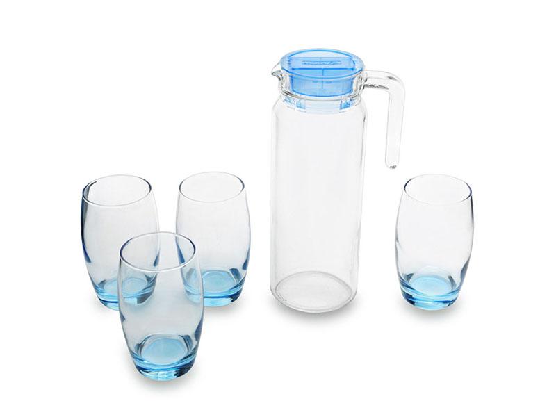 Bộ bình ly thuỷ tinh Luminarc 5 món Rotterdam Ice Blue