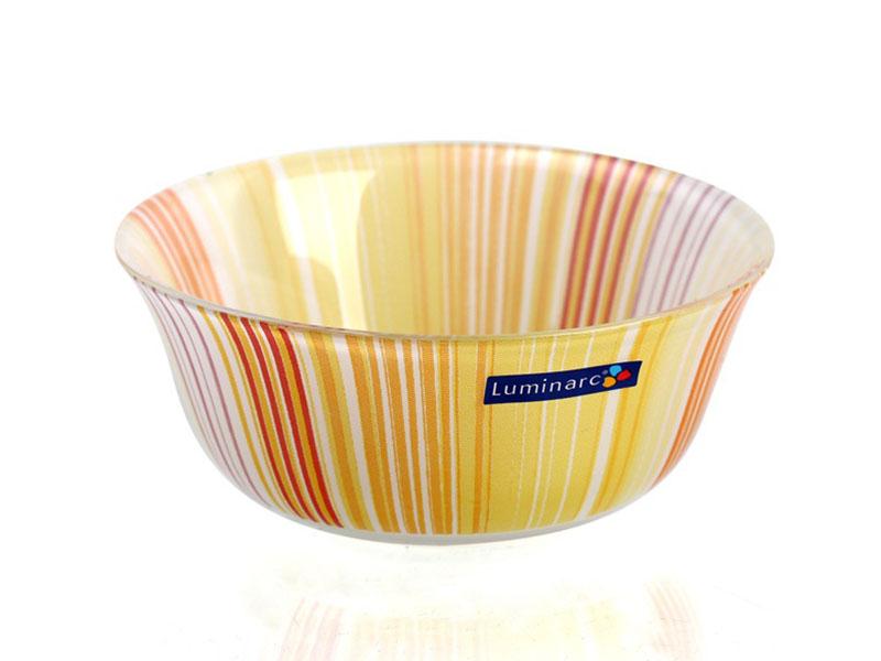 Tô Thủy Tinh Temp Carina Orange Stripes Bowl 12Cm