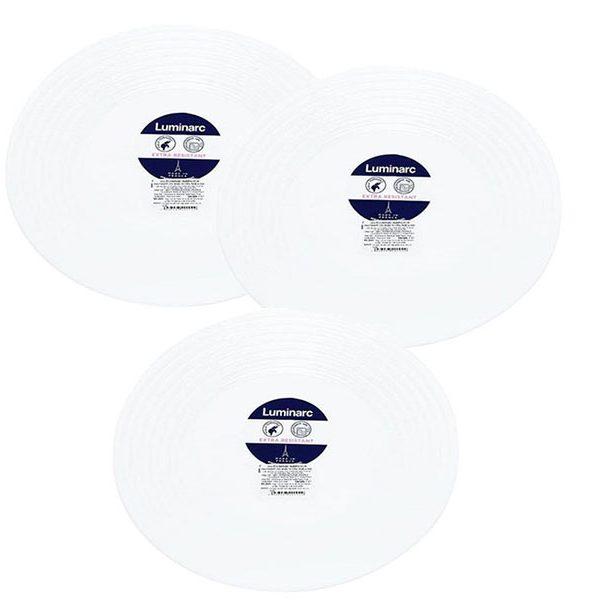 Bộ 3 đĩa thủy tinh Luminarc Harena