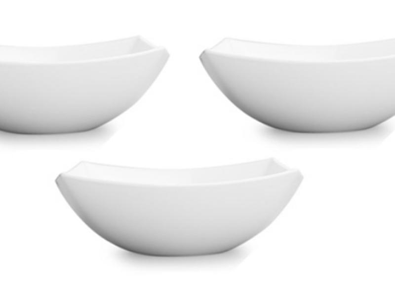 Bộ 3 Tô thủy tinh Luminarc Quadrato trắng