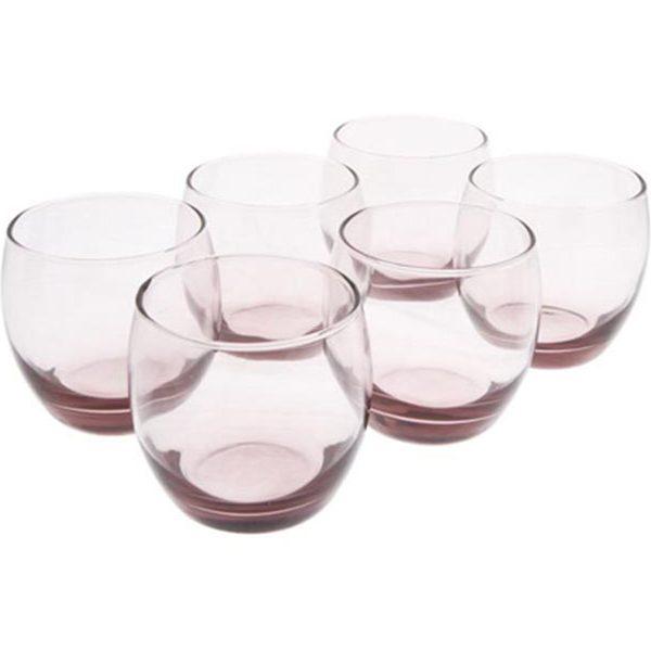 Bộ 6 ly thấp thủy tinh Luminarc Salto Ice Pink