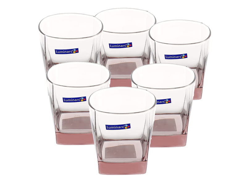 Bộ 6 ly thấp thủy tinh Luminarc Sterling Ice Pink