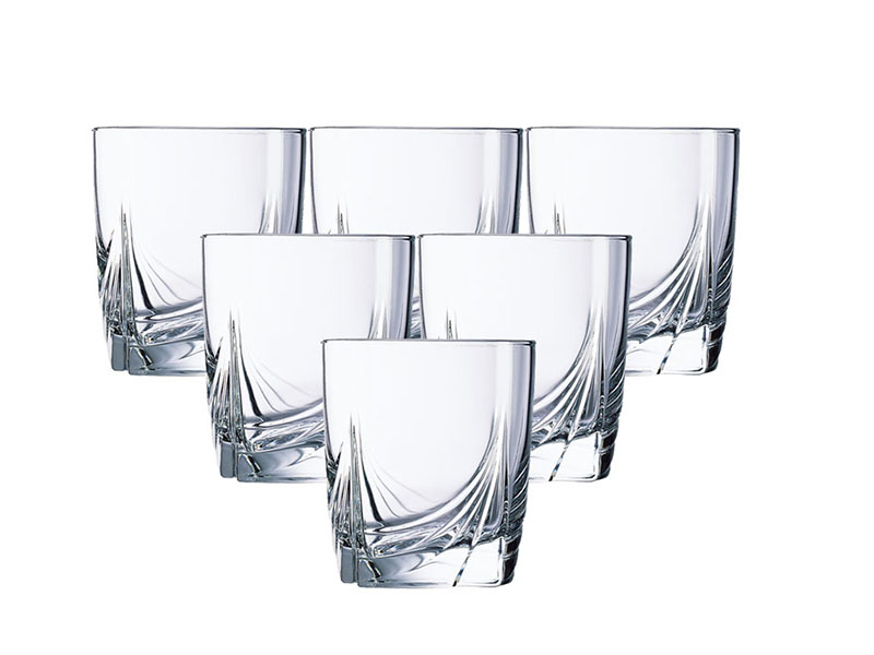 Bộ 6 Ly Thủy Tinh Thấp Luminarc Ascot