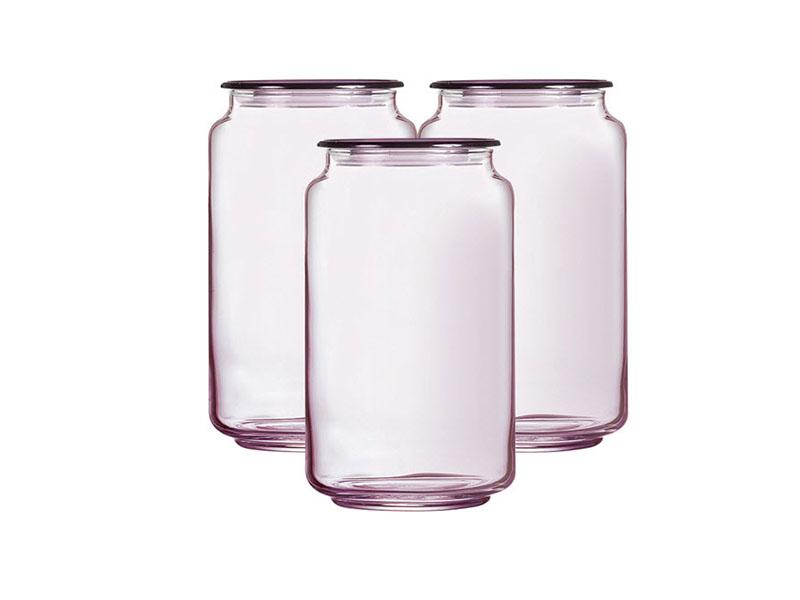Hũ thủy tinh Rondo Ice Pink Luminarc